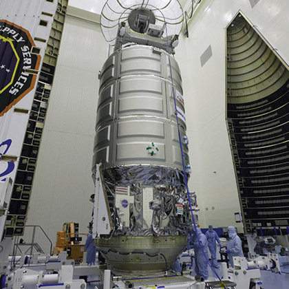 orbital atk prepares cygnus for iss resupply cover
