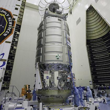 orbital atk prepares cygnus for iss resupply cover