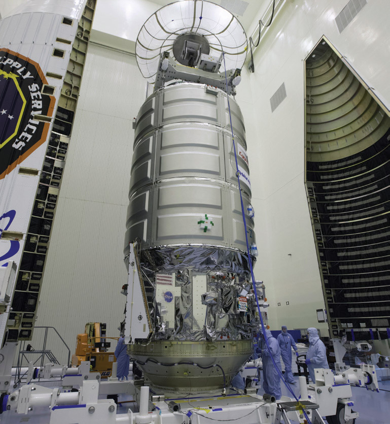 orbital atk prepares cygnus for iss resupply