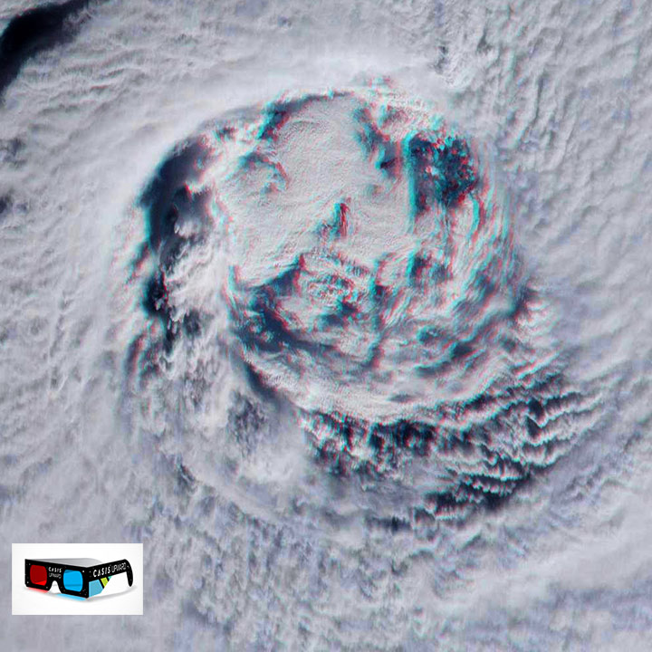 hurricane gita eye view